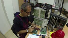Ingeniería eléctrica almacen de metraje de vídeo