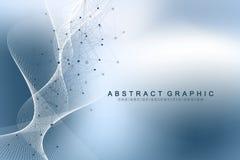 Ingeniería genética del ejemplo científico del vector y concepto de la manipulación del gen Hélice de la DNA, filamento de la DNA libre illustration