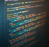 Ingeniería informática del sitio web en el editor de código foto de archivo libre de regalías