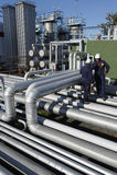Ingeniería e industria de petróleo Foto de archivo