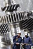 Ingeniería y trabajadores Foto de archivo