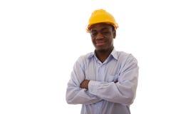 Ingeniero africano confidente Imagenes de archivo