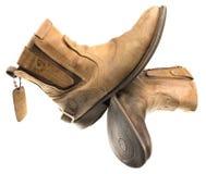 Ingeniero aislado Leather Boot de la pátina Foto de archivo