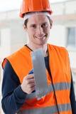 Ingeniero con la espátula foto de archivo