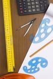 Ingeniero Construction de las herramientas Imagen de archivo libre de regalías