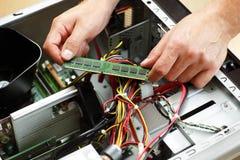 Ingeniero de ayuda de las TIC Fotografía de archivo