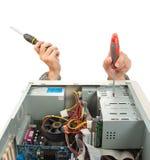 Ingeniero de ayuda de ordenador Foto de archivo libre de regalías