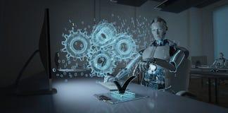Ingeniero de desarrollo Humanoid del robot ilustración del vector