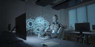 Ingeniero de desarrollo Humanoid del robot libre illustration