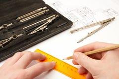 Ingeniero de diseño Fotografía de archivo libre de regalías