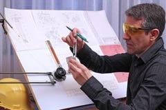 Ingeniero de diseño mecánico Fotografía de archivo