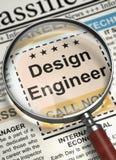 Ingeniero de diseño Join Our Team 3d Fotografía de archivo