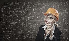 Ingeniero de la mujer Imagen de archivo libre de regalías