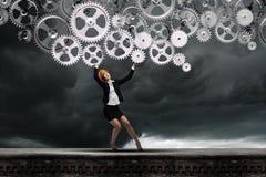 Ingeniero de la mujer imagenes de archivo