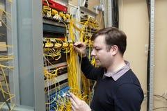 Ingeniero de la red Imagen de archivo libre de regalías