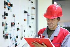 Ingeniero de la sala de mando Imagen de archivo libre de regalías