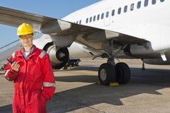 Ingeniero de los aviones Imagen de archivo libre de regalías