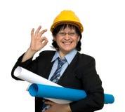 Ingeniero de sexo femenino Fotografía de archivo