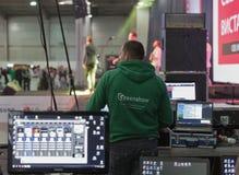Ingeniero de sonido en la ECO 2015, el más grande Fotografía de archivo