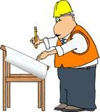 Ingeniero del proyecto stock de ilustración