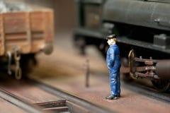 Ingeniero del tren Fotos de archivo