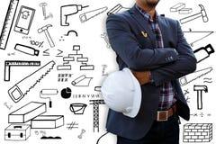 Ingeniero e icono Imagen de archivo