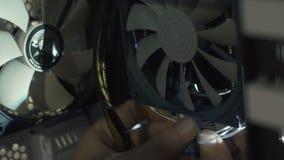 Ingeniero electrónico de la informática Mejora del hardware de la CPU del ordenador del mantenimiento del componente de la placa  almacen de metraje de vídeo