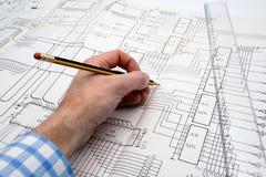 Ingeniero en el trabajo Imagenes de archivo