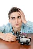 Ingeniero informático joven Imagenes de archivo