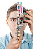 Ingeniero informático joven Imágenes de archivo libres de regalías
