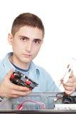 Ingeniero informático joven Foto de archivo libre de regalías