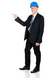 Ingeniero integral que señala a la izquierda Fotografía de archivo libre de regalías