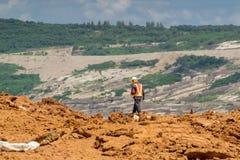Ingeniero Isolated en mina de carbón Foto de archivo libre de regalías