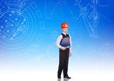 Ingeniero lindo del niño pequeño Imagenes de archivo