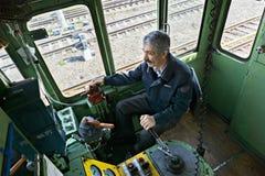 Ingeniero locomotor de arriba Imagen de archivo libre de regalías