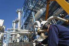 Ingeniero, petróleo, combustible y gas Fotografía de archivo