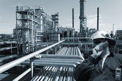 Ingeniero, petróleo, combustible y gas Fotos de archivo libres de regalías