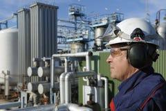 Ingeniero químico de petróleo y del gas Fotos de archivo libres de regalías