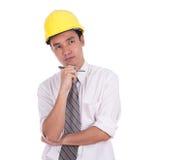 Ingeniero Thinking Fotografía de archivo