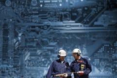 Ingenieros y datos nucleares Foto de archivo libre de regalías