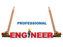 Ingenieur 3D op Wit Stock Afbeelding