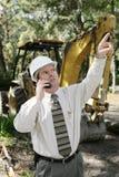 Ingenieur auf Baustelle lizenzfreies stockfoto