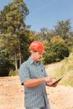 Ingenieur auf Baustelle Lizenzfreie Stockfotos