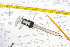 Ingenieur-Bau-Auslegung lizenzfreie stockfotografie