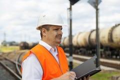 Ingenieur bij de post Stock Afbeeldingen