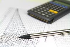Ingenieur Calculations Graphics Stock Foto's