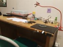 Ingenieur Desk royalty-vrije stock fotografie