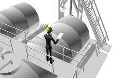 Ingenieur die industriële plaats controleert Royalty-vrije Stock Afbeeldingen