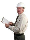 Ingenieur die Nota's neemt Royalty-vrije Stock Foto