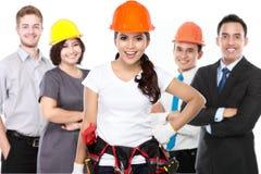Ingenieur en bedrijfsmensen Stock Afbeelding